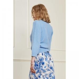 Sally 3-4 Sleeve Sky Blue